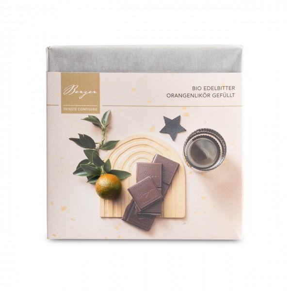 Bio Edelbitter Schokolade Orangenlikör gefüllt