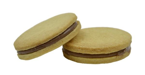 Biscottini vaniglia con cremino gianduia