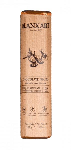 Chocolate negro con almendras Marcona