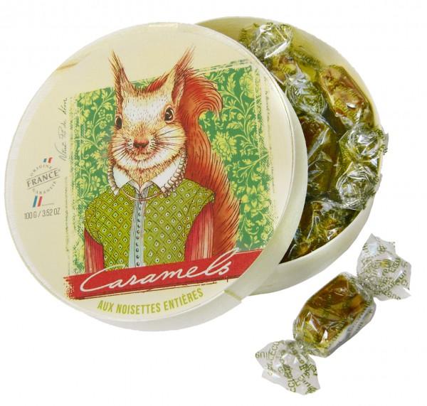 Caramels aux Noisettes entières - 100g