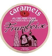 Caramels au beurre frais et à la fleur de sel de Guérande - Framboise -