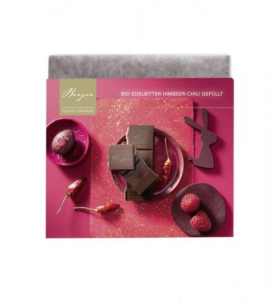 Bio-Schokoladentafel Edelbitter Himbeer-Chili gefüllt