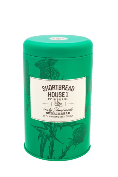 Shortbread Biscuit Tin with warming stem ginger