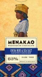 Cocoa nibs & Madagascan sea salt Dark Chocolate 63%