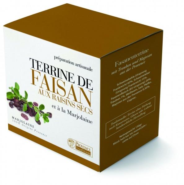 Terrine de faisan aux raisins secs et
