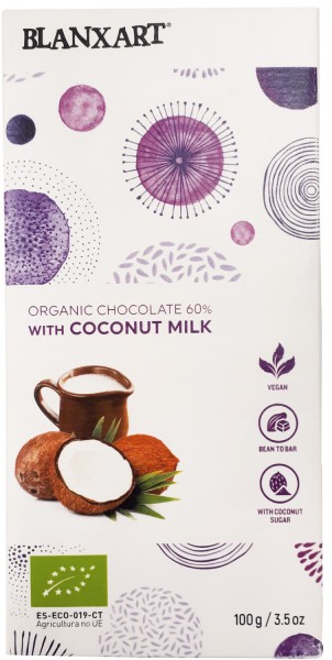 Organic Chocolate 60 % with Coconut Milk