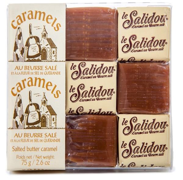 Le Salidou-Carrées Caramels aux beurre salés étuis pâtissiers