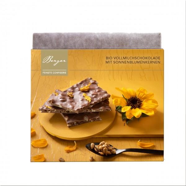 Bio Vollmilchschokolade mit Sonnenblumenkernen