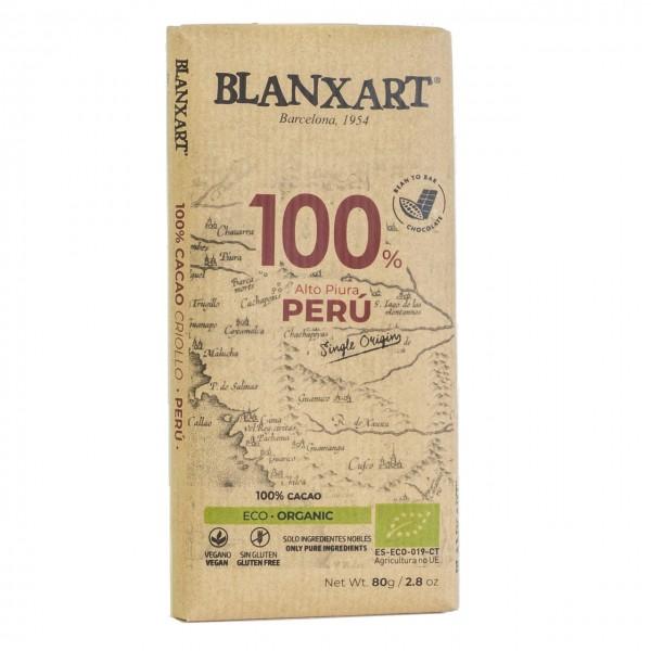Chocolate ecológico negro Peru 100%