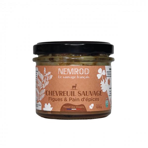 Terrine de Chevreuil sauvage Figues & Pain d'épices