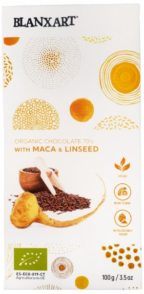 Organic chocolate 70 % with Maca & Linseed