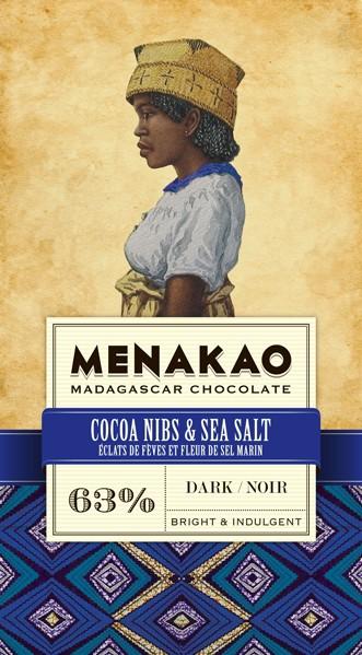 Cocoa Nibs & Madagscan Sea Salt 63%