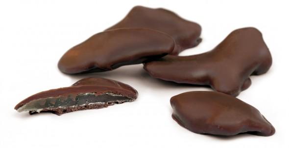 Zenzero ricoperto cioccolato latte