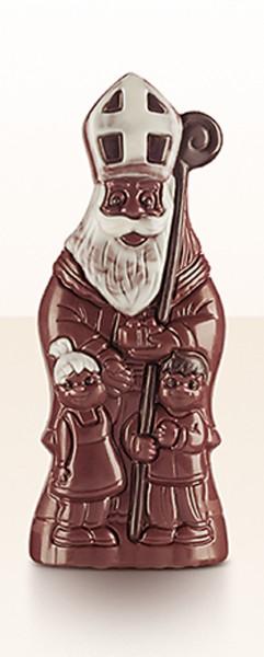 Bio-Vollmilch-Nikolaus mit Kindern 18 cm, 90 g