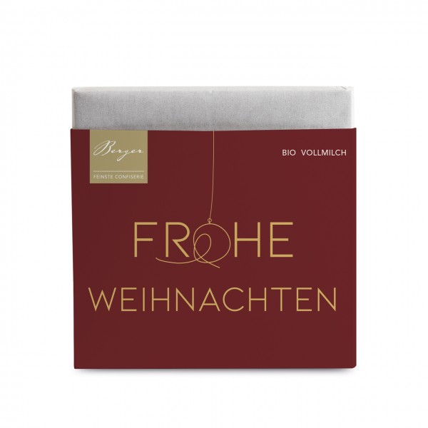 """Bio Vollmilch Schokolade """"Frohe Weihnachten"""""""