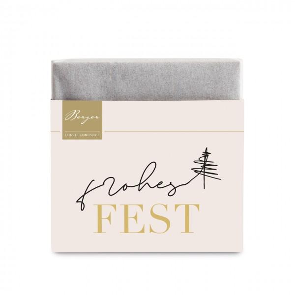 """Bio Vollmilch Schokolade """"Frohes Fest"""" – Mini"""