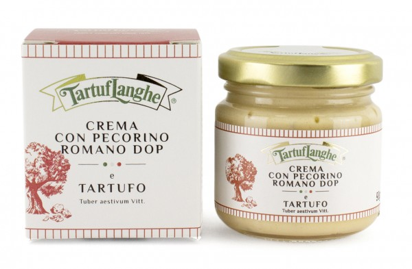Crema con pecorino romano DOP e tartufo