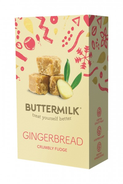 Christmas Box Gingerbread Crumbly Fudge