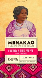 Combava & Pink Pepper Dark Chocolate 63%