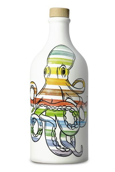 Terracotta Peranzana-Octopus/Tintenfisch gestreift