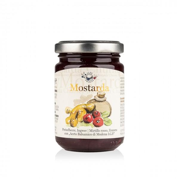 Mostarda Preiselbeere, Ingwer | Balsamessig aus Modena I.G.P.