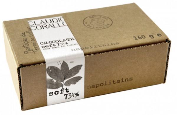 Chocolate soft com nibs de cacau - Napolitains 73,5%