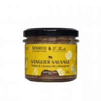 Terrine de Sanglier Sauvage Poires & Liqueur de châtaigne Wildschweinterrine
