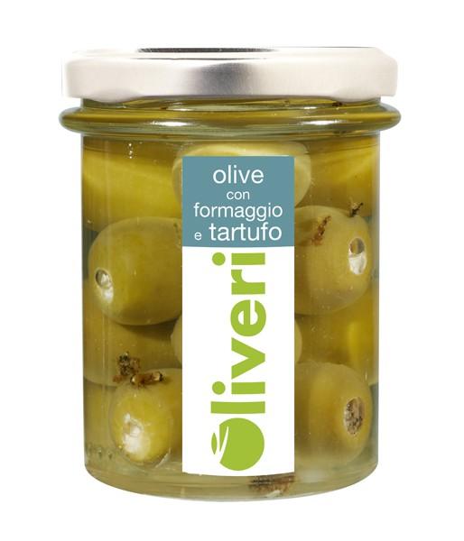 Olive con formaggio e tartufo