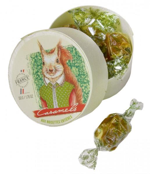 Caramels aux Noisettes entières - 50g