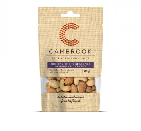 Baked Hickory Smoke Seasoned Almonds & Cashews | 80 g