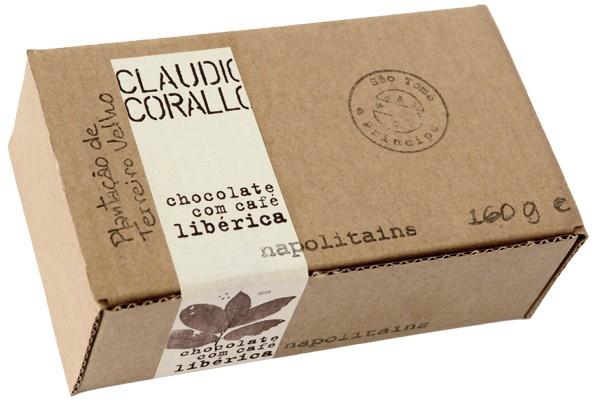 Chocolate com café libérica - Napoltains 70%
