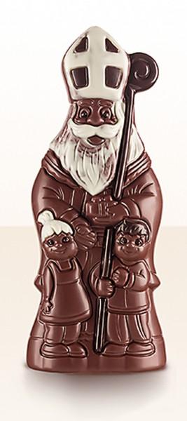 Bio-Vollmilch-Nikolaus mit Kindern 25 cm, 200 g
