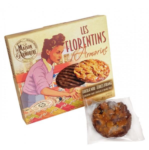 Les Florentins d'Armorine - Chocolat Noir Écorces d'orange