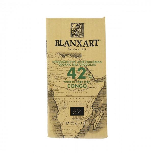 Chocolate ecológico con leche Grand Cru single origin Congo 42%
