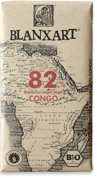 Chocolate ecológico negro Grand Cru single origin Congo 82%