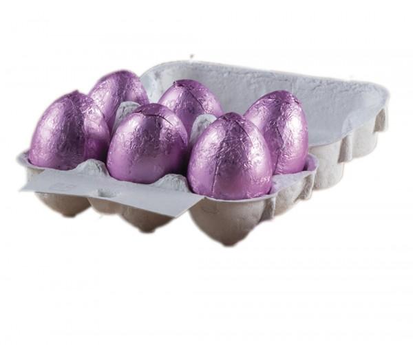 Maxi ovetti di cioccolato fondente 75% ripiene di crema al cacao   EB