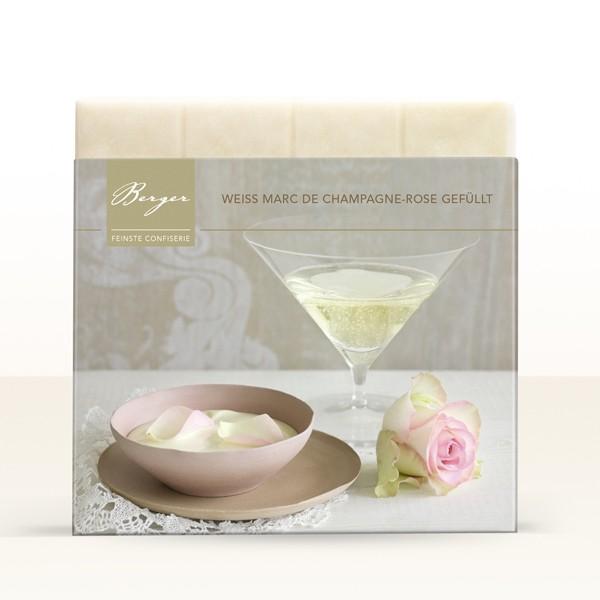 Weiss Marc de Champagne-Rose gefüllt