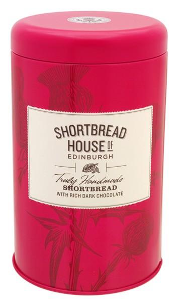 Shortbread Biscuit Tin with rich dark chocolate