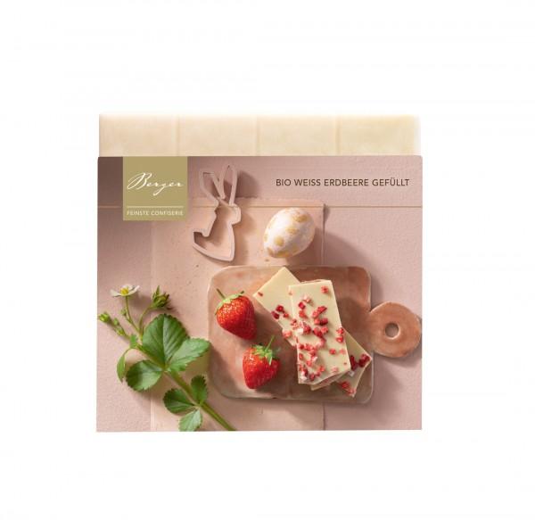 Bio Schokoladentafel Weiß Erdbeere gefüllt