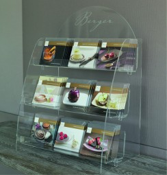 Berger Tafel-Display aus Plexiglas