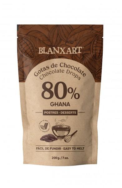Gotas de Chocolate 80 % Ghana