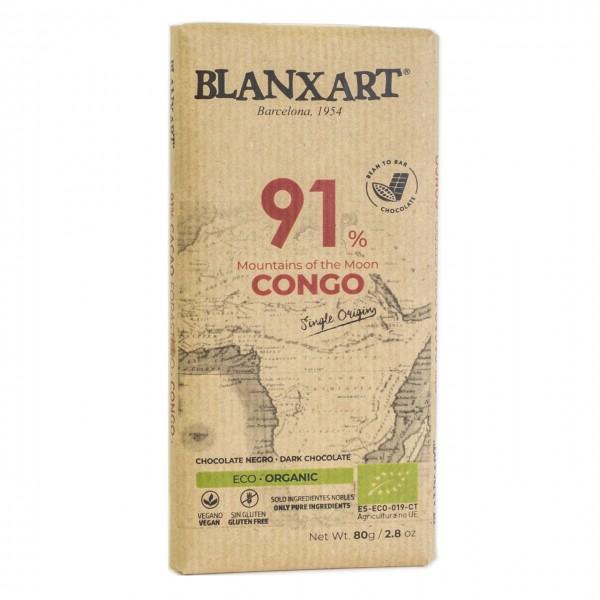 Chocolate ecológico negro Congo 91%