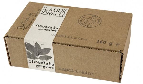 Chocolate gengibre - Napolitains 70%