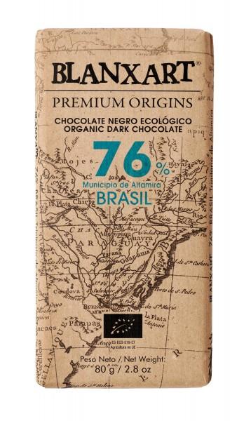 Chocolate negro ecológico 76 % Brasil