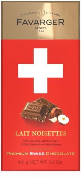 Chocolat au lait et aux noisettes