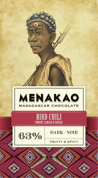 Bird-Chili Dark Chocolate 63%