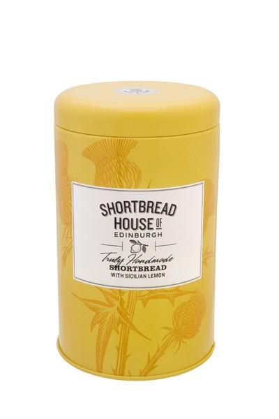 Shortbread Biscuit Tin with Sicilian lemon