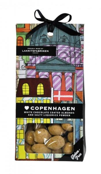 Love Copenhagen | Mandeln mit weißer Schokolade und salzigem Lakritzpulver