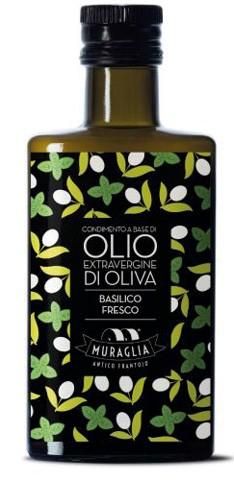 Condimeto a base di olio extravergine di Oliva Basilico Fresco