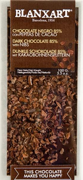 Chocolate negro con pepitas de cacao